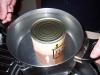 Erwärmen des Braukit damit die zähe Suppe flüssiger wird.