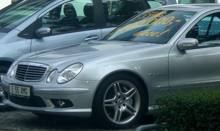 Mercedes in Prag