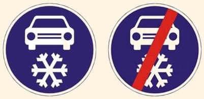 Winterreifen Pflicht in Tschechien 1.11.-30.4.